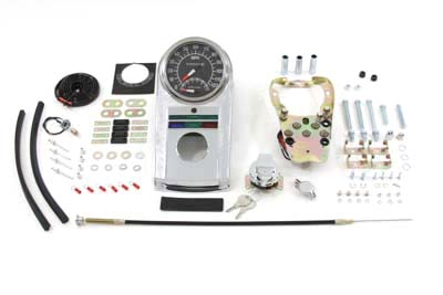 Chrome Dash Panel Kit with 2:1 Ratio Speedometer