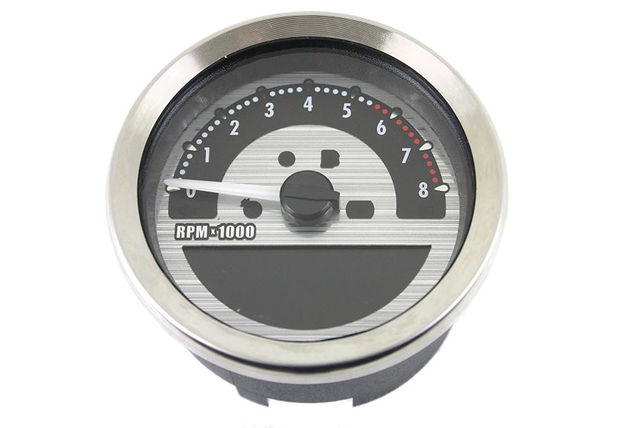 "AEE 4"" Dakota Style Speedometer Silver"