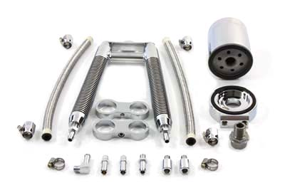 Dual Tube Vertical Style Oil Cooler Kit