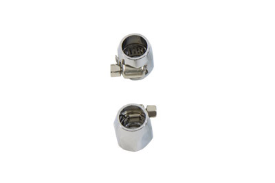 Hex Chrome Econo Seal Hose End Set