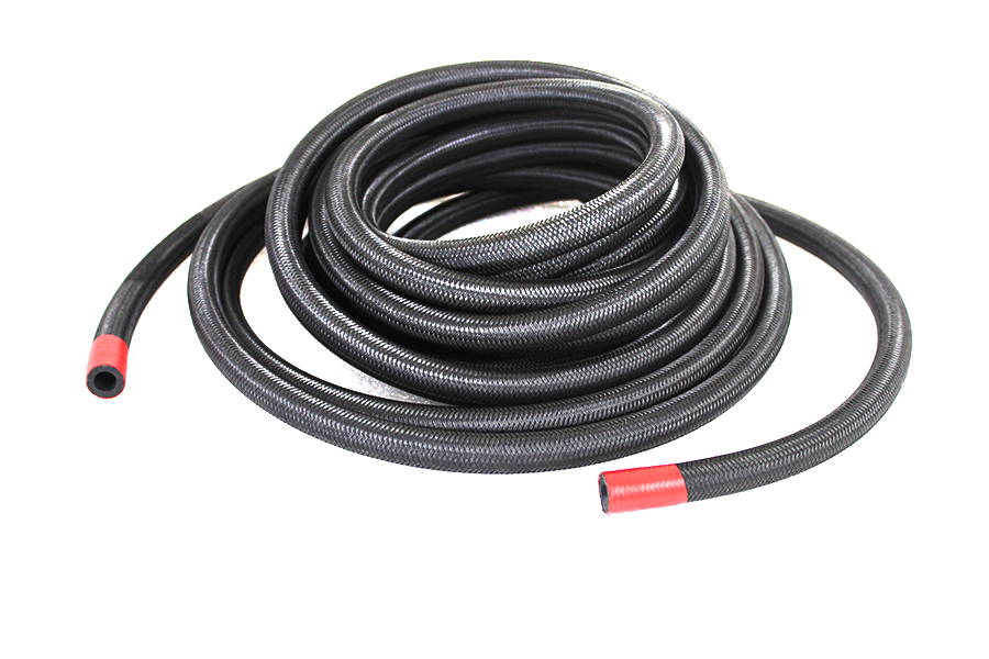 Braided Oil Hose Black