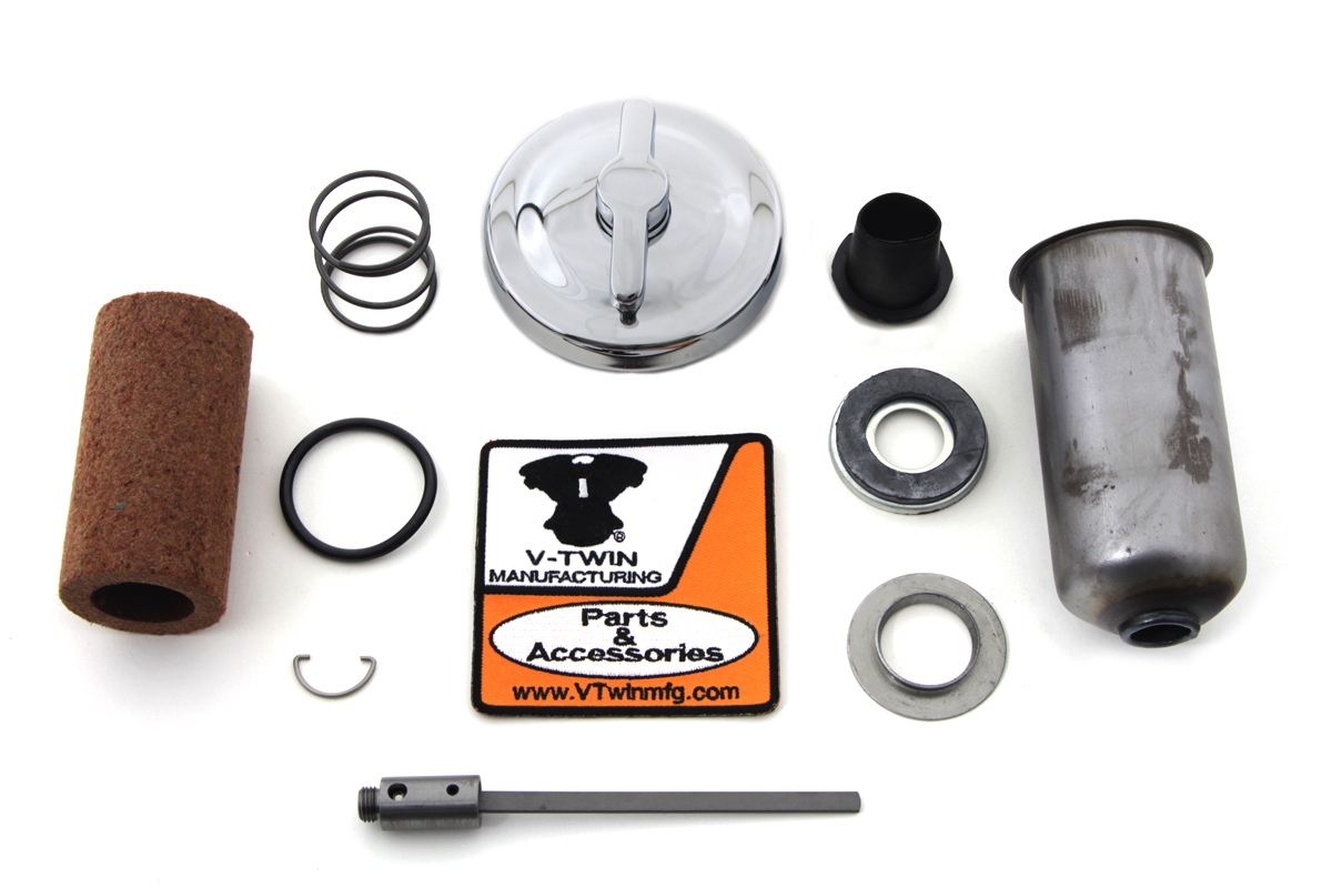 Chrome Oil Tank Cap Kit