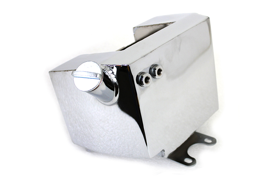Center Post Mount Wrap Around Oil Tank Chrome