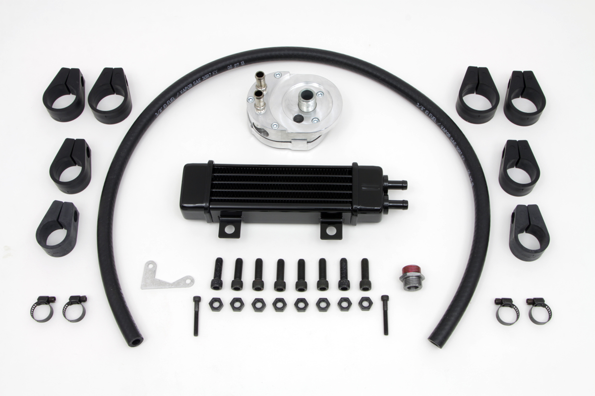 Jagg Slim Line Oil Kit Cooler with Adapter
