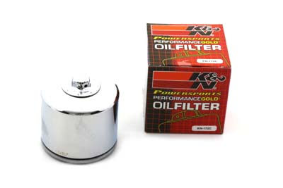 K&N Spin On Hex Oil Filter Chrome