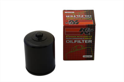 K&N Spin On Hex Oil Filter Black