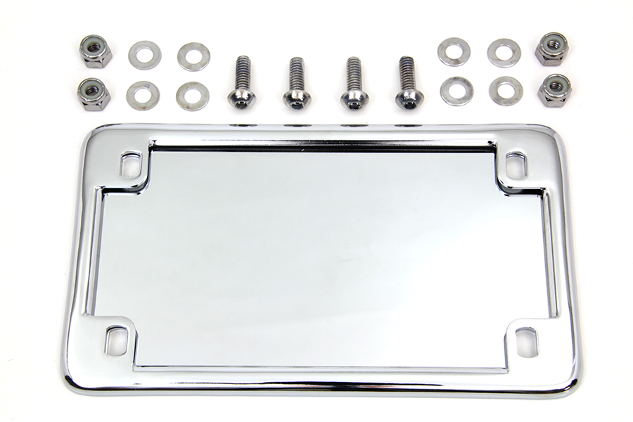 License Plate Frame Kit Chrome