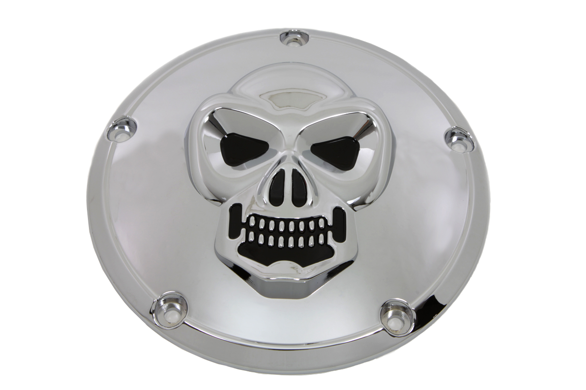 VTwin Chrome 5 Hole Motorcycle Derby Cover 1999-2018 Harley Touring FXST FXD FLT