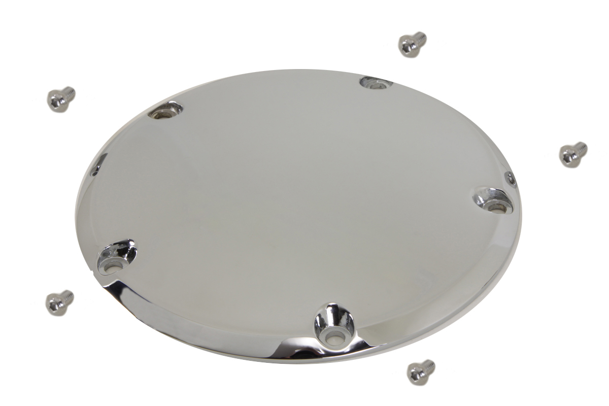VTwin Chrome 5 Hole Motorcycle Derby Cover 1999-2018 Harley Touring FXD FLT FXST