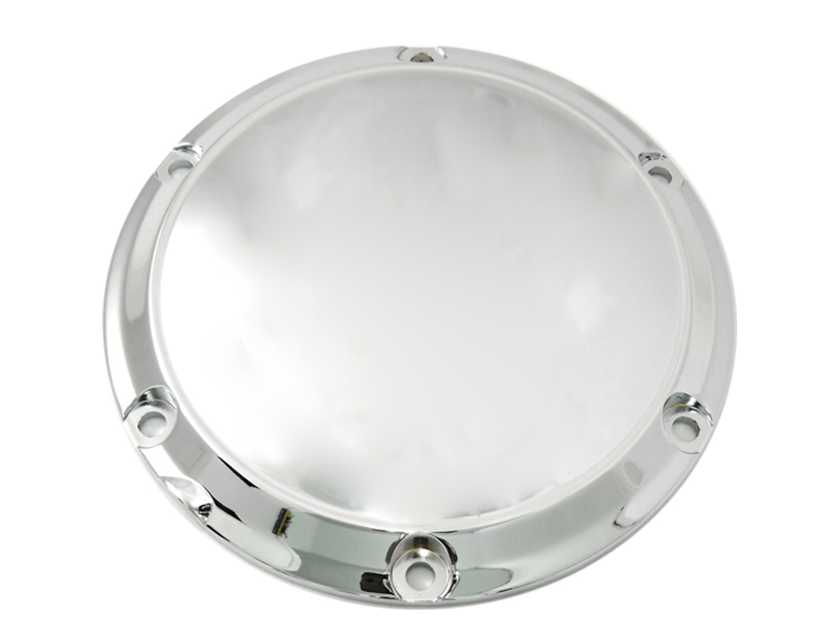 Chrome 6-Hole Smooth Derby Cover