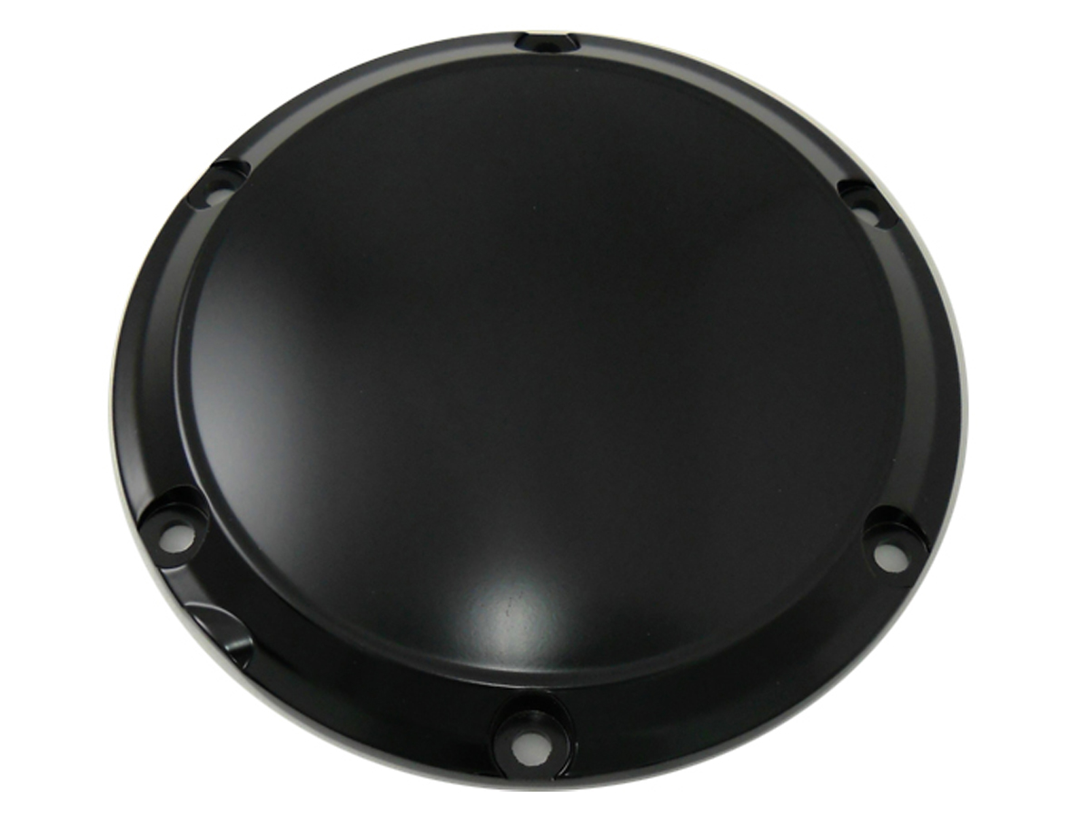 Black 6-Hole Smooth Derby Cover