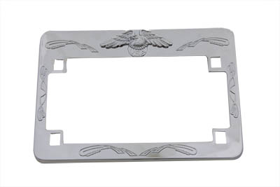 License Plate Frame Chrome Eagle Design