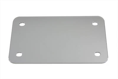 License Plate Frame Backing Plate Chrome Smooth Style