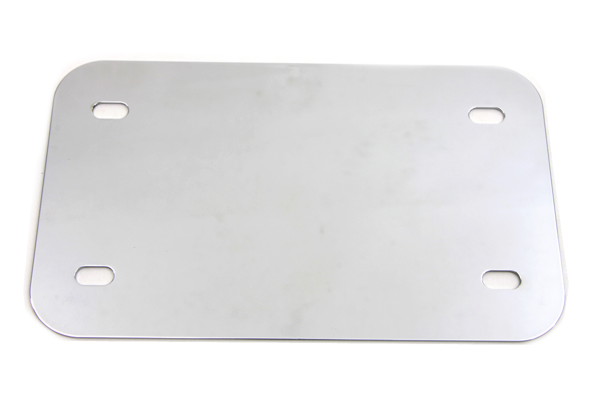 License Plate Frame Backing Plate Smooth Style Chrome