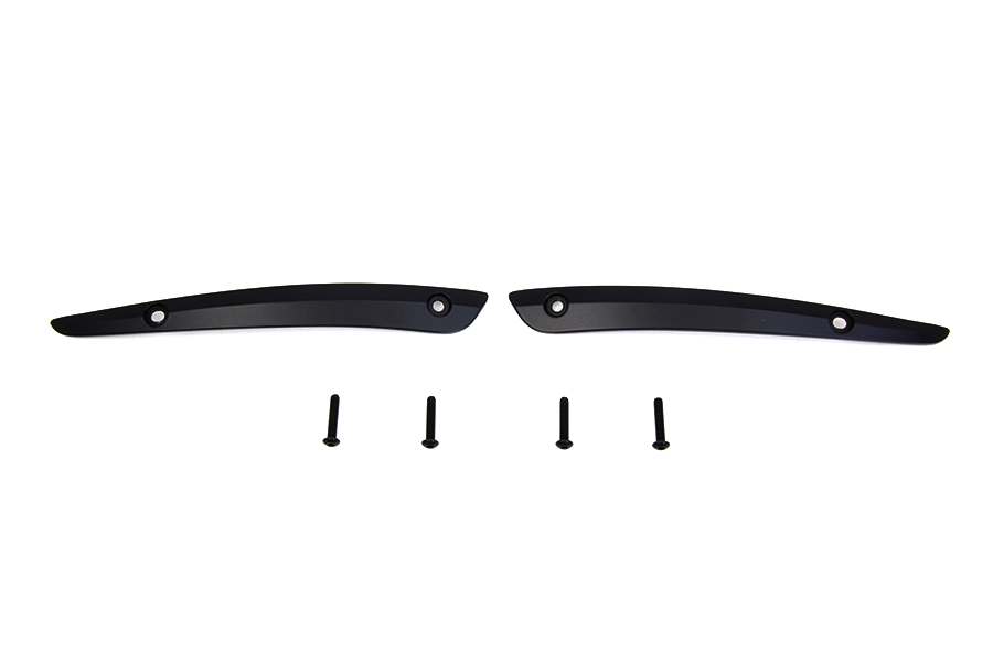 Black Split Windshield Trim Set