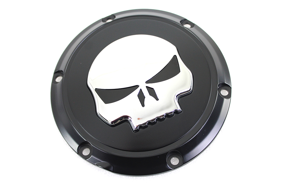 Black 6 Hole Skull Derby Cover