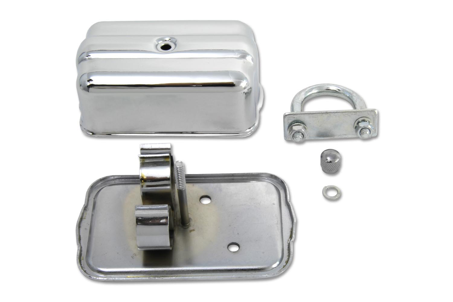 Universal Chrome Spark Plug Holder with Clamps