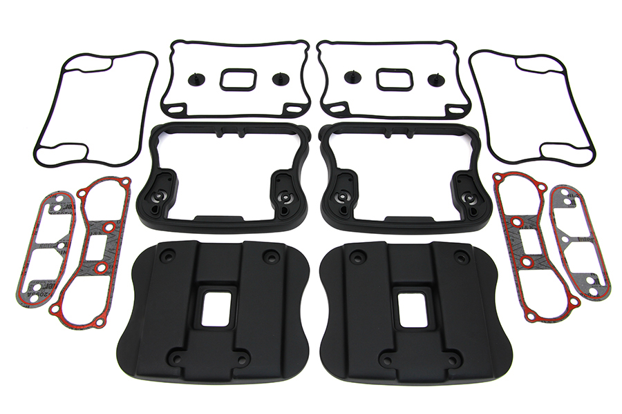 Top Rocker Box Cover and D-Ring Kit Black