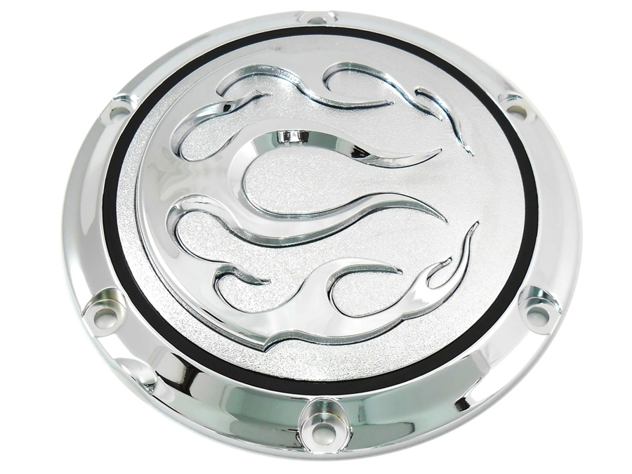 Chrome 6-Hole Flame Derby Cover