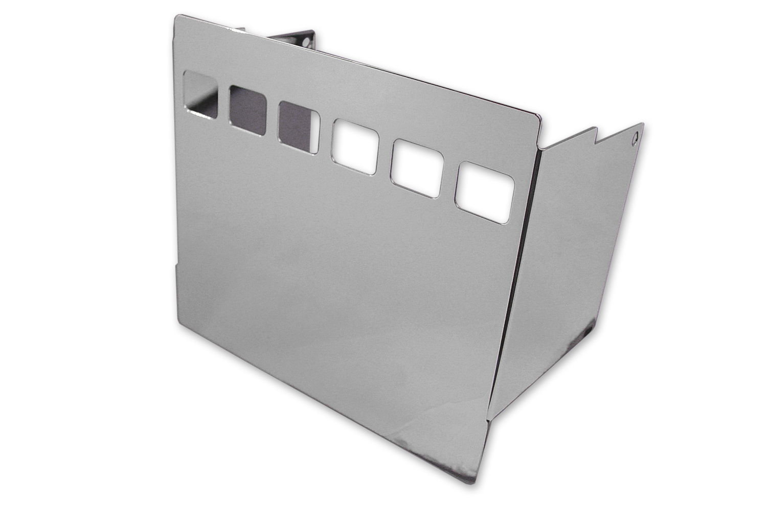 Chrome Battery Side Cover with Square View Holes