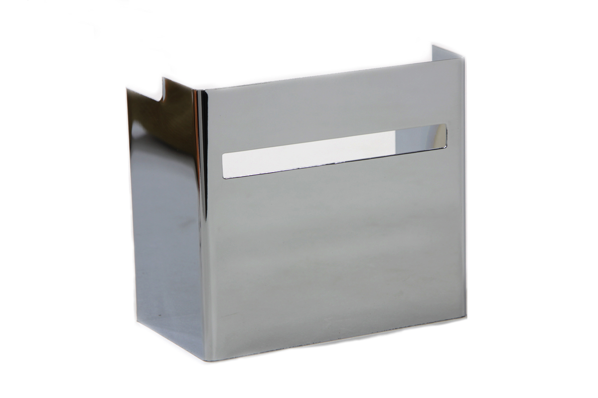 Chrome Battery Side Cover with Single Slot View Hole