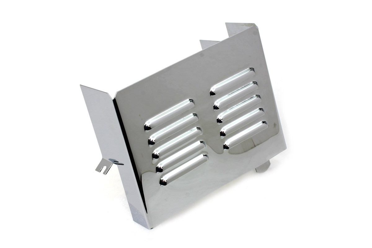 Chrome Louvered Battery Side Cover