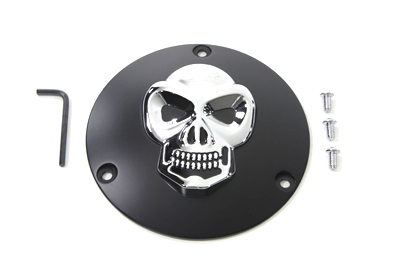 VTwin Black 3 Hole Motorcycle Derby Cover 1970-1998 Harley Touring FXR FXST FLST