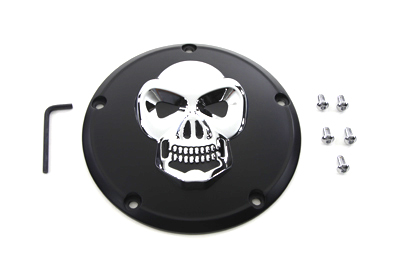 VTwin Black 5 Hole Motorcycle Derby Cover 1999-2018 Harley Touring FLT FXD FLST