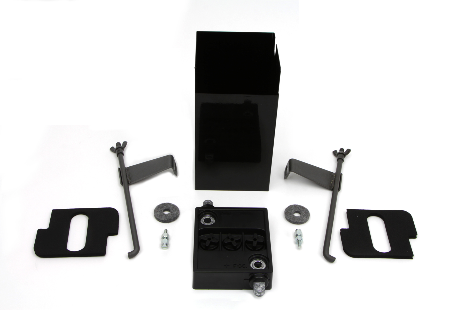Black 6 Volt Battery Box Kit