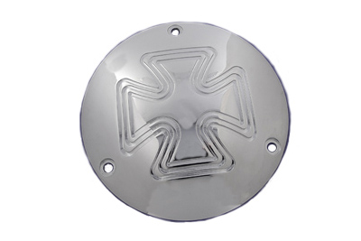 VTwin Iron Cross 3 Hole Motorcycle Derby Cover 1979-1998 Harley Touring Softtail