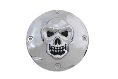 Skull Clutch Inspection Cover Chrome