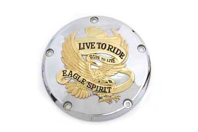 VTwin Gold Eagle Spirit Derby Cover Kit 1999-2015 Harley Touring Softail FLT FXD