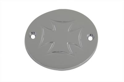 Chrome 2-Hole Maltese Ignition System Cover
