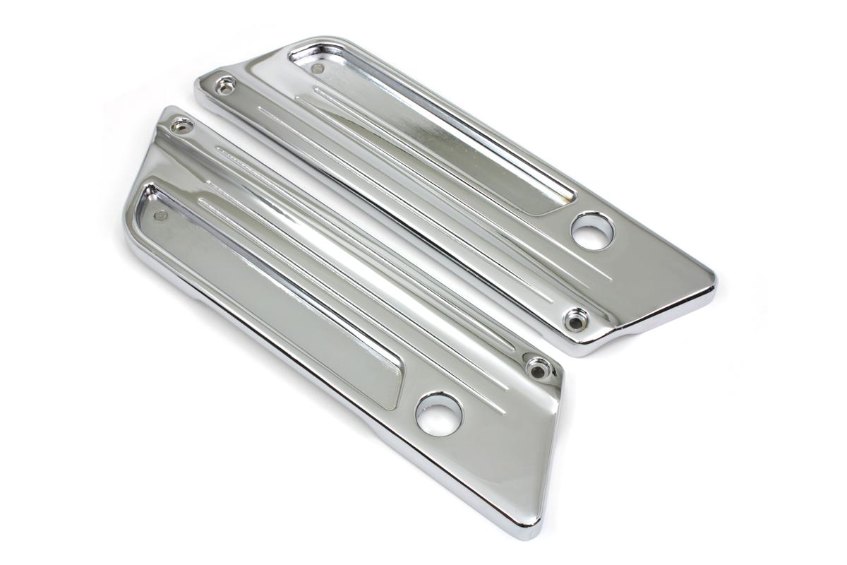 VTwin Speed line Chrome Saddlebag Face Plates 1993-2013 Harley Touring FLT