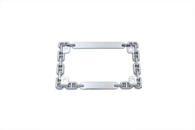 License Plate Frame Chain Style Chrome