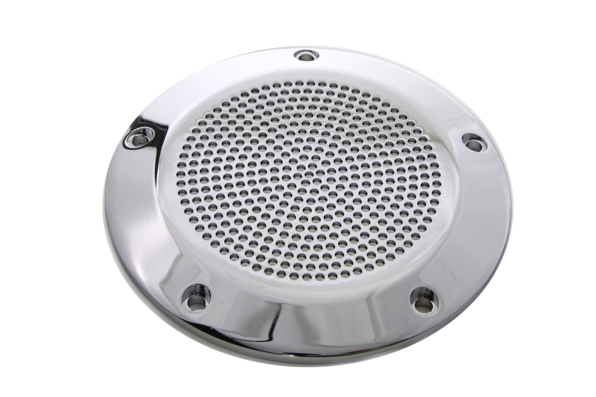 Chrome Perforated 5-Hole Derby Cover