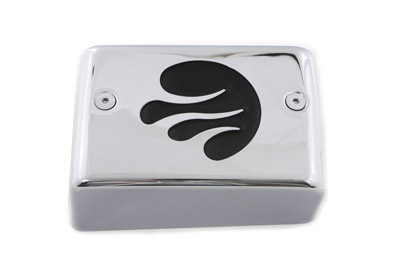 Chrome Ignition Module Cover with Black Flame