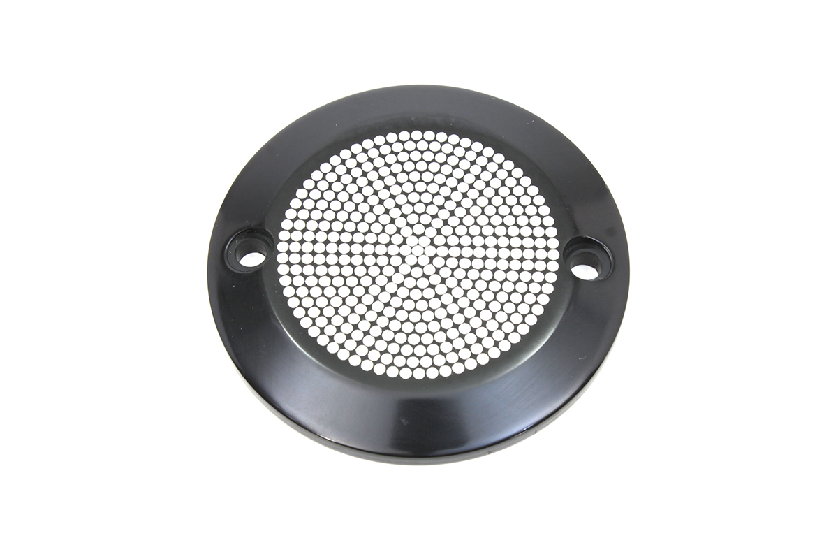 Black 2-Hole Perforated Ignition System Cover