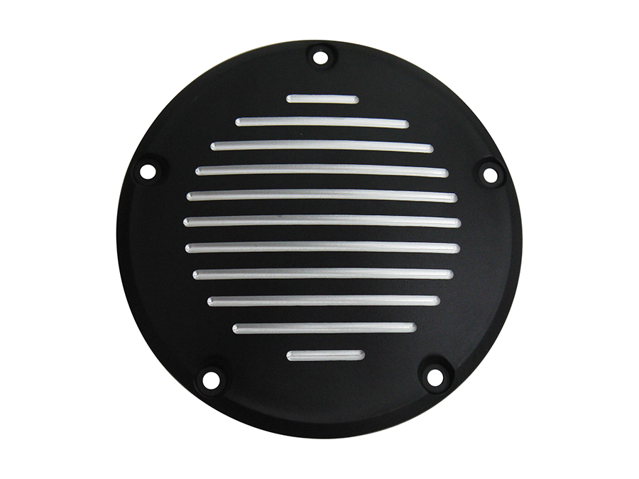 Black Grooved 5-Hole Derby Cover