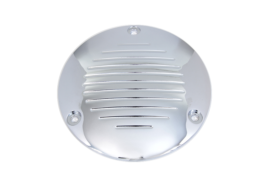 Chrome Grooved 3-Hole Derby Cover
