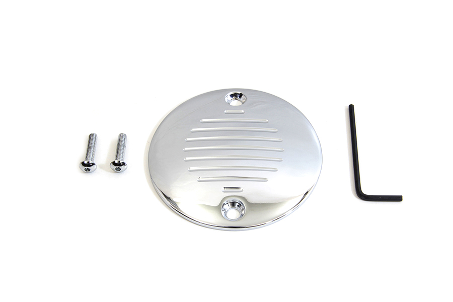 Grooved Ignition System Cover 2-Hole Chrome