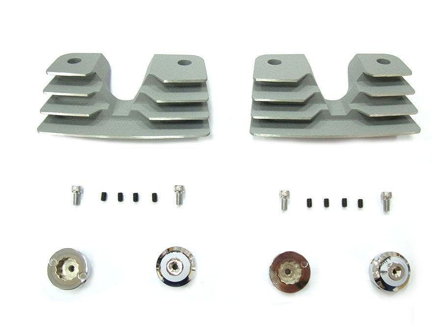 Head Bolt and Spark Plug Cover Kit Silver