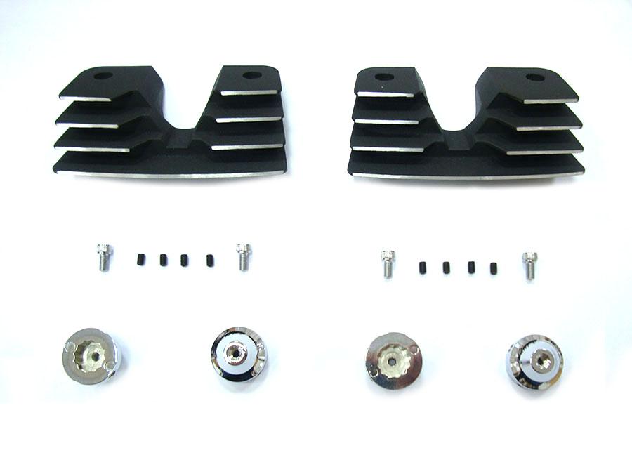 Head Bolt and Spark Plug Cover Kit Black