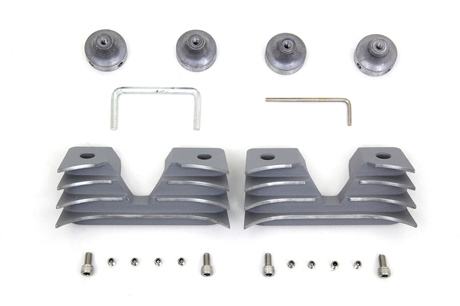 Head Bolt and Spark Plug Cover Kit Silver