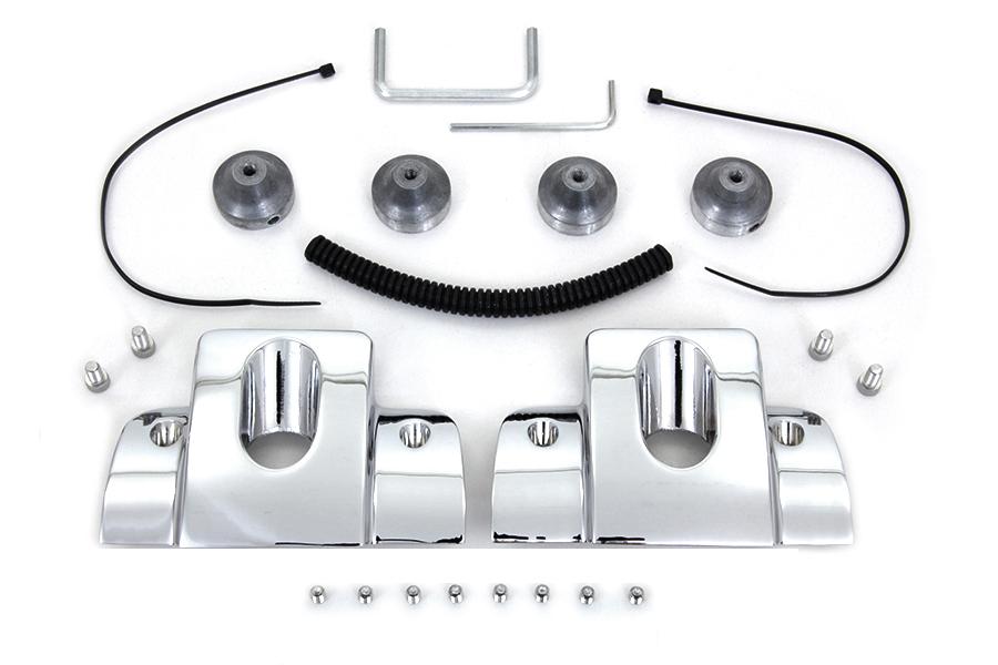 Head Bolt and Spark Plug Cover Kit Chrome
