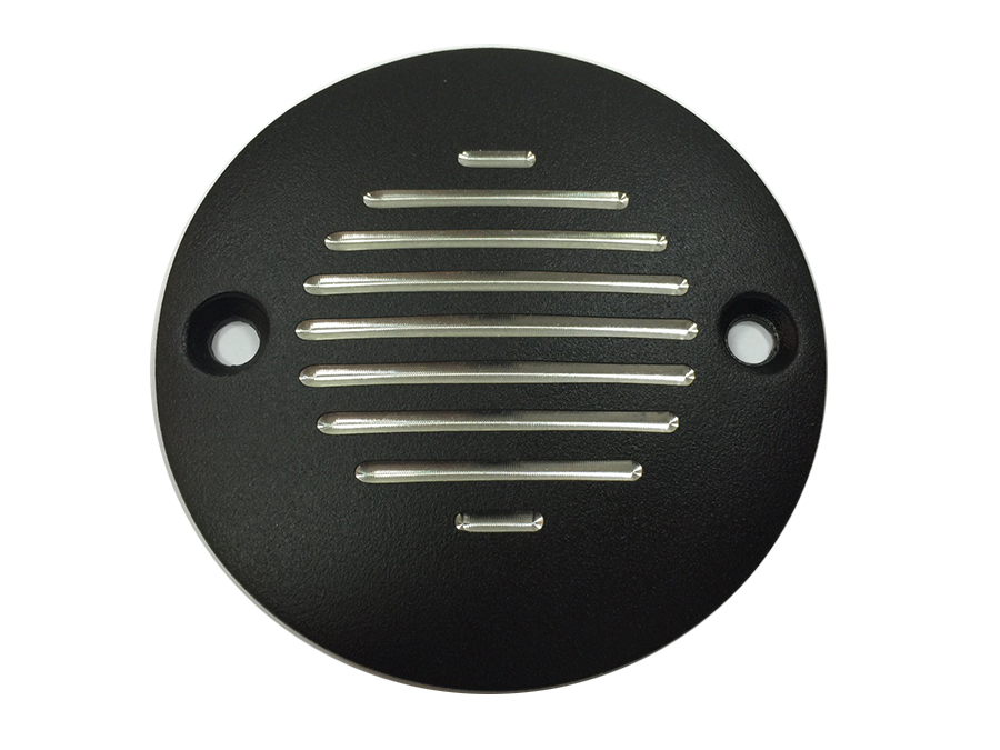Grooved Ignition System Cover 2-Hole Black