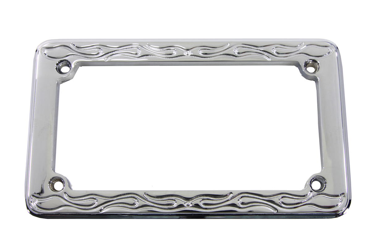 License Plate Frame Flame Style
