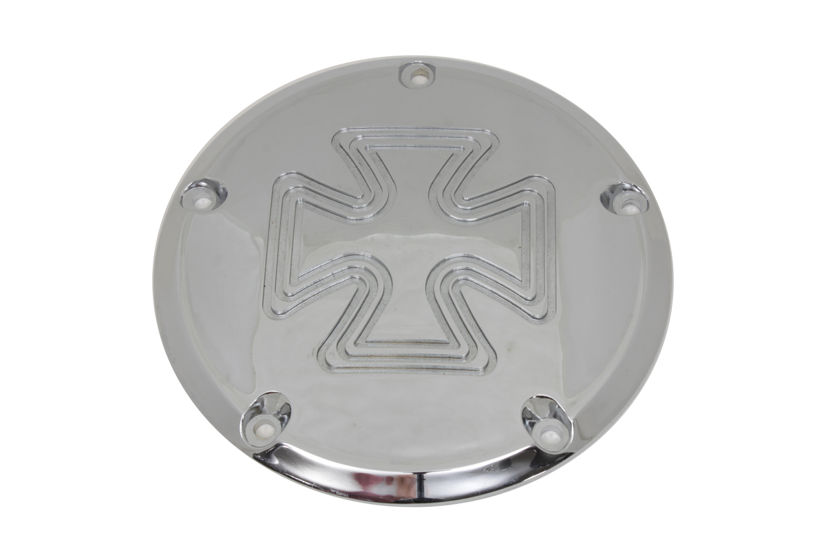 Iron Cross Derby Cover Chrome Billet