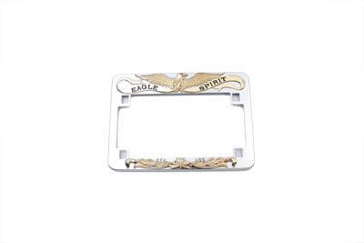 License Plate Frame Eagle Spirit Style Gold Inlay