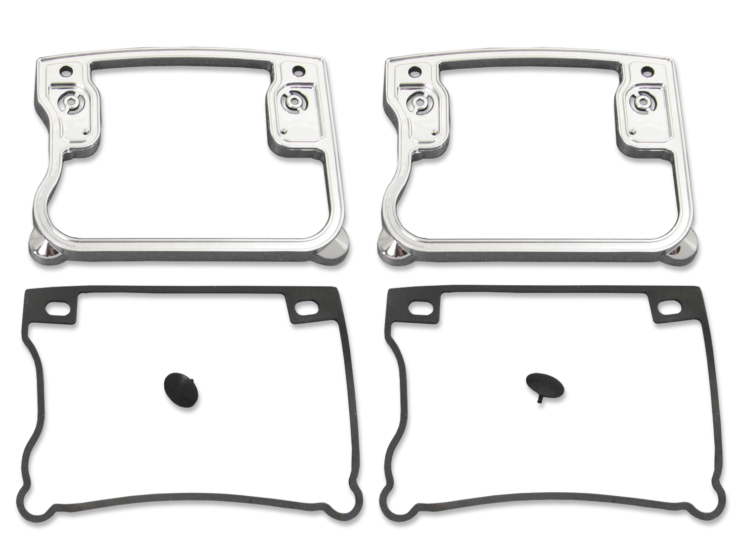 Rocker Box Cover D-Ring Set Chrome